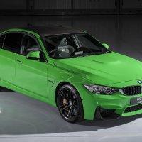 BMW M3 Saloon Individual in Signal Green