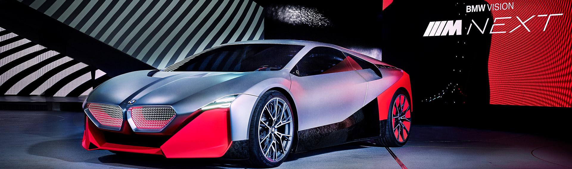 BMW Vision M NEXT concept car front 3/4 view