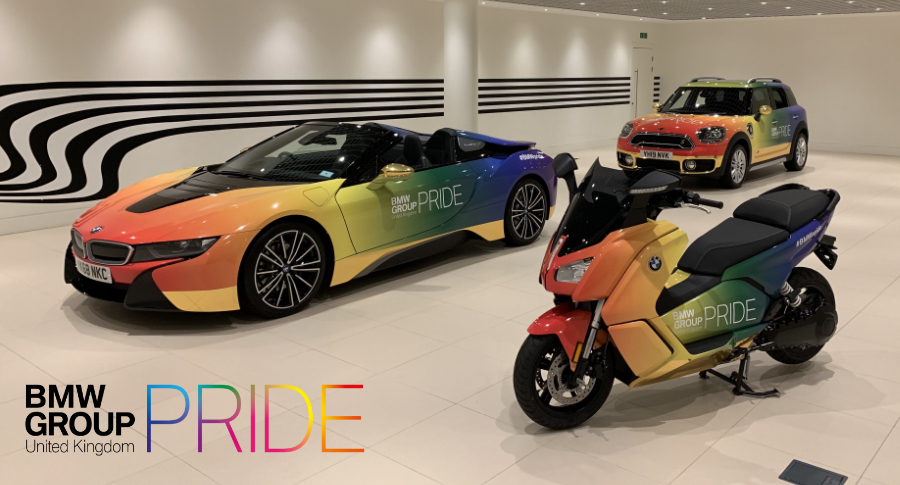The BMW Pride vehicle lineup