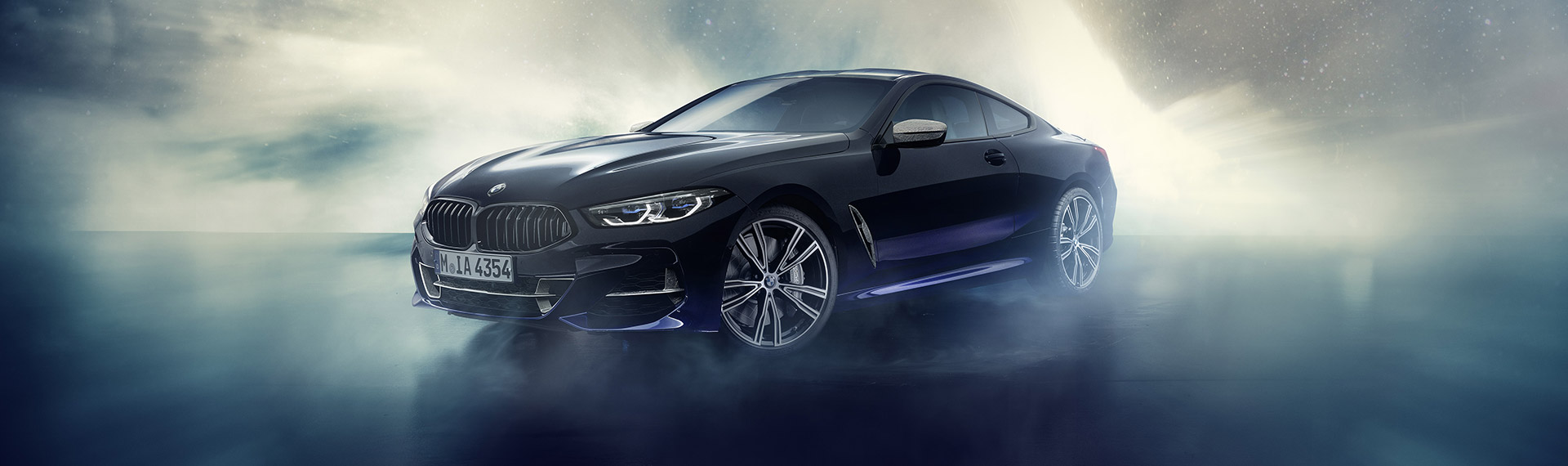 BMW Individual M850i Night Sky Front 3/4 View