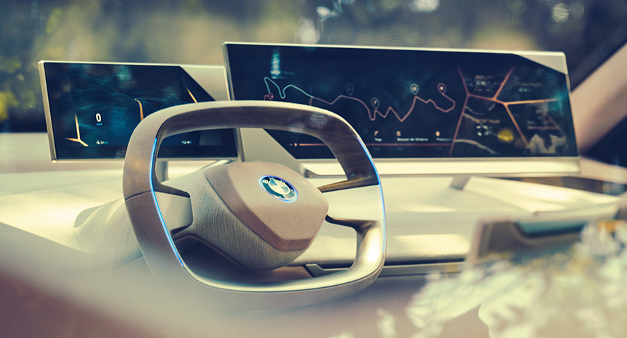 BMW iNEXT cockpit and dashboard