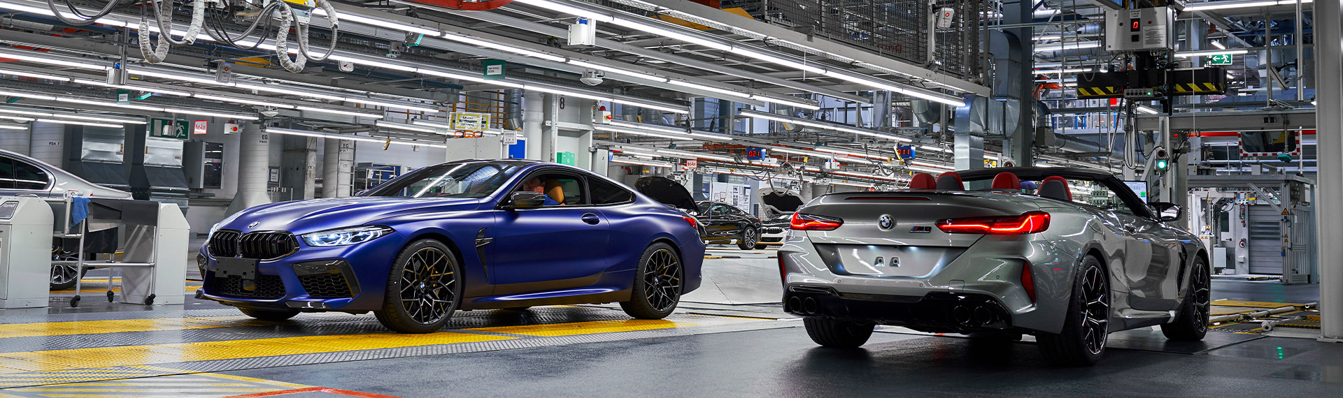 New BMW 8 Series models in production