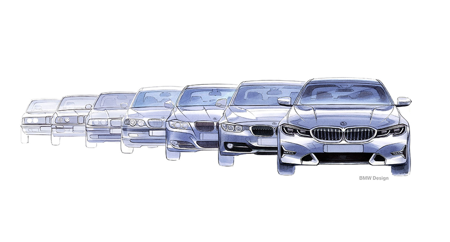 Seven generations of the BMW 3 Series