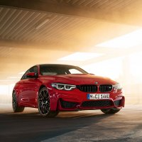 BMW M4 Coupé ///M Heritage Edition in Imola Red.