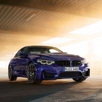 BMW M4 Coupé///M Heritage Edition in Velvet Blue metallic.