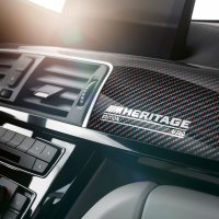 Interior shot of new BMW M4 Coupé///M Heritage Edition.