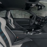 Interior shot of the BMW M2.