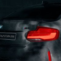 Rear shot of the BMW M2.