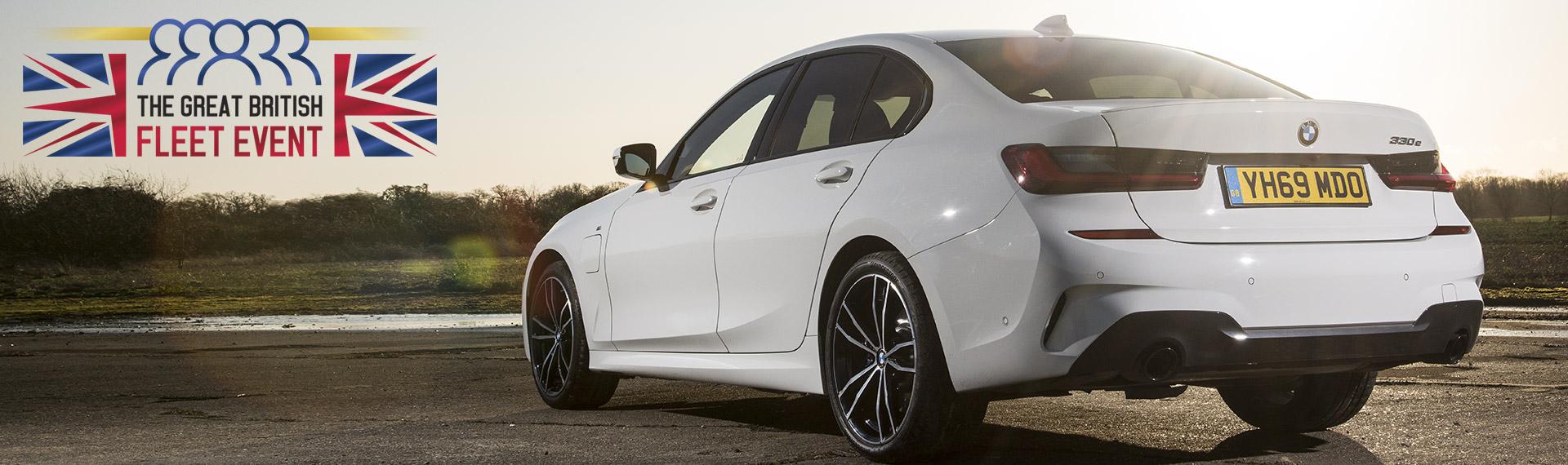 BMW 3 Series Saloon three-quarter rearview.