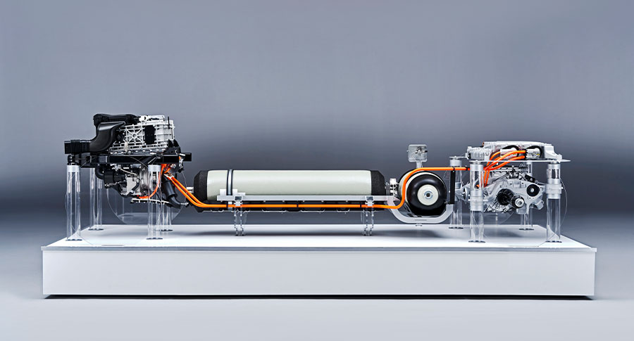 New BMW i Hydrogen NEXT drivetrain.