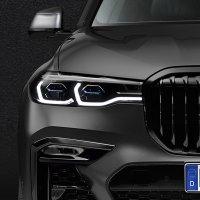 BMW X7 Dark Shadow Edition front profile