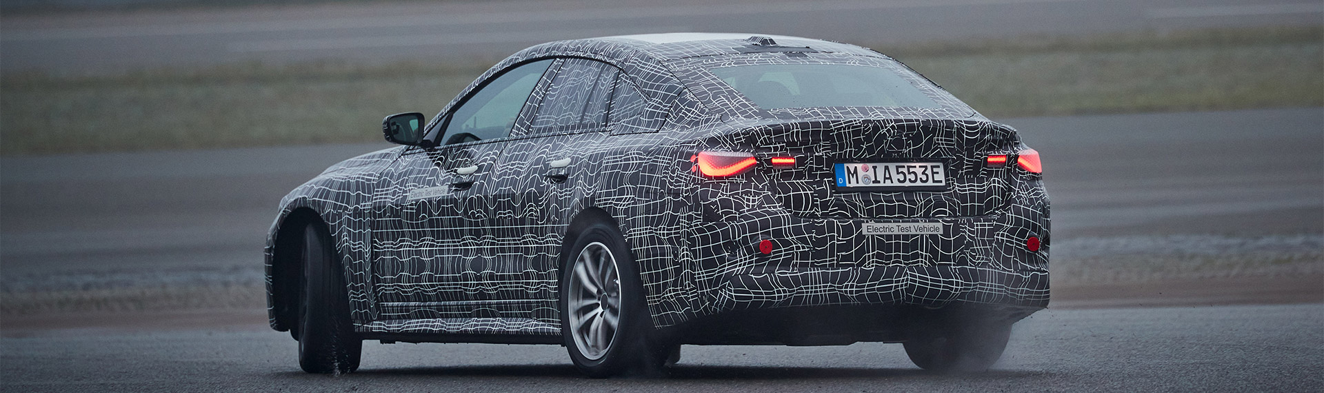 New BMW i4 rear shot.