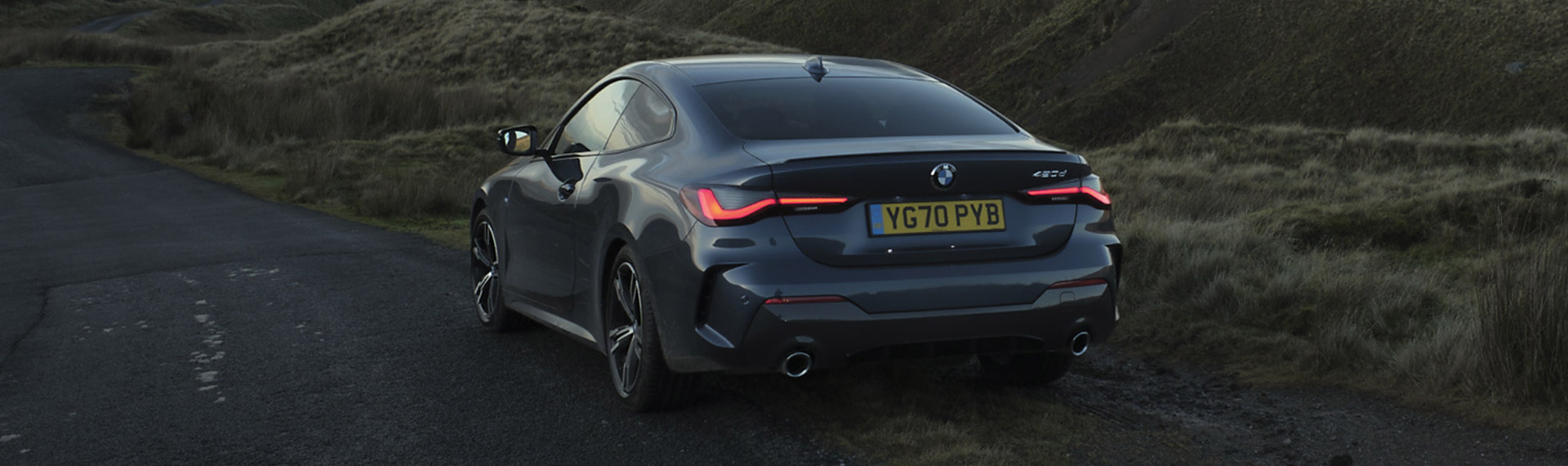 New BMW 4 Series rear 3/4 view